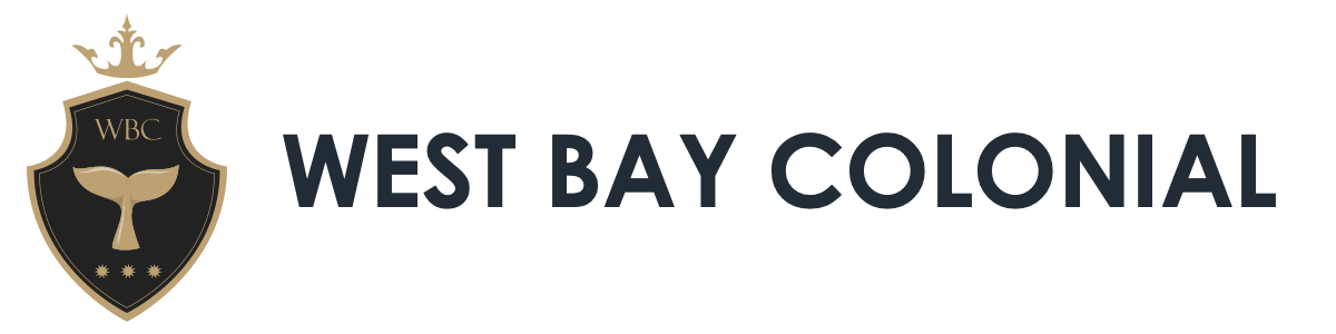 west bay colonial logo text